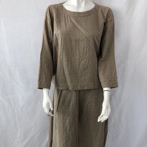 Issey Miyake Skirt & Top Asymmetric Suit Sz M